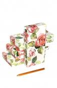 Коробка.карт.  прямоуг. Розовый шиповник 1  22,5*10,5*5,5см