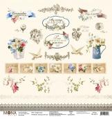 "Лист Карточки ""Французский сад"" 190 гр 30,5х30,5 см"