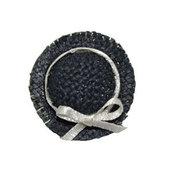 Дамская шляпка плетенная, черная 2,8см