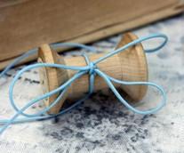 Шнур декоративный  голубой, 1 мм 2 м