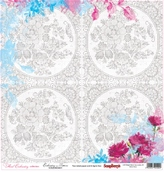 "Бумага ""Цветочная вышивка"" Схема для вышивания 30,5х30,5 см"