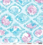 """Бумага """"Цветочная вышивка"""" Канва 30,5х30,5 см"""