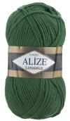 Пряжа Alize LANAGOLD цв. темно-зеленый 4 мотка