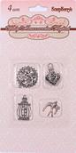 Набор металлических подвесок КОЛЛЕКЦИЯ ЗАВИТКОВ, 4 вида по 1шт