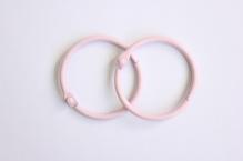 Кольца для альбомов, 2 шт розовые 40 мм