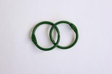 Кольца для альбомов зеленые, 2 шт  25 мм