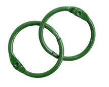 Кольца для альбомов, 2 шт зеленые 40 мм