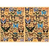 "Бумага для декупажа ""Бабочки"",  100 г/кв.м, лист 50 x 70 см"