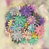 Цветы бумажные коллекции Hello Pastel, d 3 см, уп.36 шт