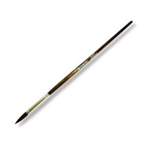 Кисть белка, круглая, короткая ручка №1 (5,5мм)