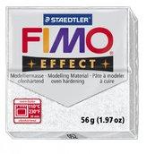 Полимерная глина, запекаемая в печке, FIMO Effect, белый с блестками, 56 гр.