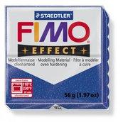 Полимерная глина, запекаемая в печке, FIMO Effect, синий металлик брус, 56 гр