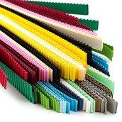 Набор разноцветных гофро-полосок