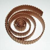 Гофро-полоски  коричневый