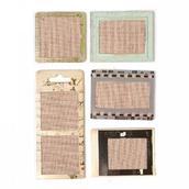 Набор стикеров ткань+бумага