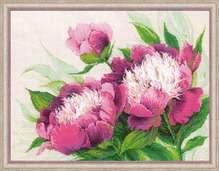 """Набор для вышивания """"Розовые пионы""""40х30см"""