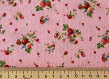 Ткань роз с ягод 50*145