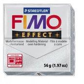 Полимерная глина, запекаемая в печке, серебряный металлик, FIMO Effect Metallic Silve, 56 гр.