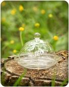 Тарелочка с куполом, шарик, стекло, d9,2см