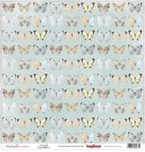 """Бумага односторон """"Бабочки"""" Бабочки, 30,5х30,5"""