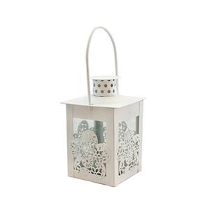 Декоративный фонарик Цветок белый, 8х8х17см