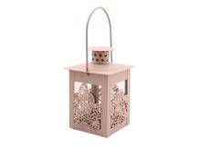Декоративный фонарик Цветок, розовый, 8х8х17см