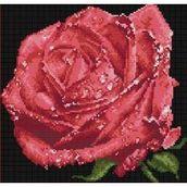 """Алмазная живопись """"Красная  роза"""" 33-32см"""