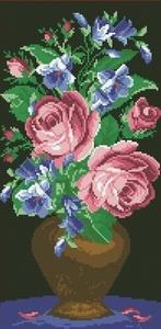 """Алмазная живопись """"Ваза роз"""" 25*50см"""