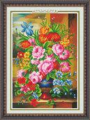 """Алмазная живопись """"Прекрасные цветы"""" 61х81см"""