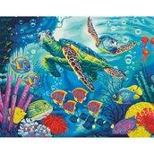 """Картина по номерам """"Морские черепахи"""" 33,5х27,9см"""