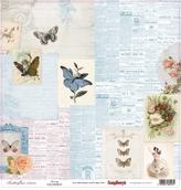 """Бумага односторон """"Бабочки"""" Красота, 30,5х30,5"""