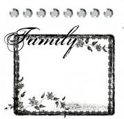 Штамп силиконовый+стразы (8 шт.),  FAMILY 6,4х7,6 см