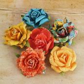 Цветы бумажные TIMIDO  d 3,8 см 1шт
