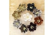 Цветы бумажные Daisies d 3,8 см, уп. 9 шт
