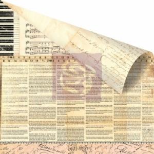 Бумага для скрапбукинга двусторонняя 30,5х30,5 см, серия ALMANAC, COMPOSITION
