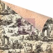 Бумага для скрапбукинга двусторонняя 30,5х30,5 см, серия ALMANAC, TOILE