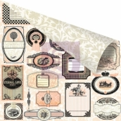 Бумага для скрапбукинга двусторонняя 30,5х30,5 см, серия ALMANAC, NOTARY