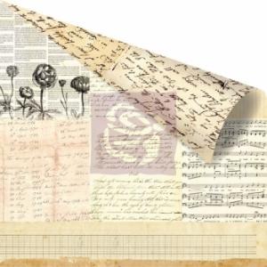 Бумага для скрапбукинга двусторонняя 30,5х30,5 см, серия ALMANAC, WORDSMITH