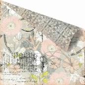 Бумага для скрапбукинга двусторонняя 30,5х30,5 см, серия RONDELLE, GAVOTTE