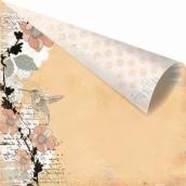 Бумага для скрапбукинга двусторонняя 30,5х30,5 см, серия RONDELLE, CABRIOLE