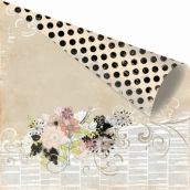 Бумага для скрапбукинга двусторонняя 30,5х30,5 см, серия RONDELLE, SOVIENNE