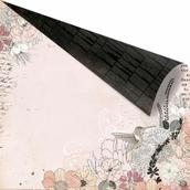 Бумага для скрапбукинга двусторонняя 30,5х30,5 см, серия RONDELLE, POLONAISE