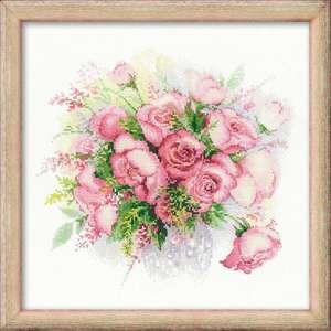 """Набор для вышивания """"Акварельные розы"""" 30х30см"""