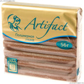 Пластика  брус 56 г шоколадный с блестками