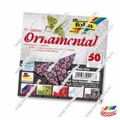 """Цветная бумага двусторонняя для оригами """"Орнамент"""" 5 мотивов, 50л"""