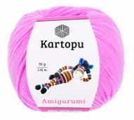 Пряжа Amigurumi 50г 130 м розовый