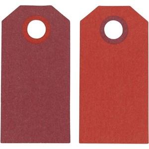 Теги Манила, 6*3 см, 20шт бордо/красный,