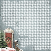 """Бумага  """"Мелодии Рождества"""" Праздничное утро 16,5x16,5см"""