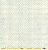 "Бумага  односторон ""Корица""  Синий горошек 30x30"