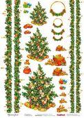 """Карта для декупажа """"Новогодние подарки"""" 32x45см"""